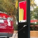 Cargador electrico publicitario